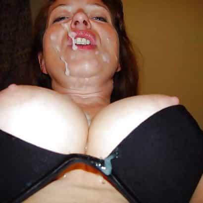 Brustbilder mit Sperma