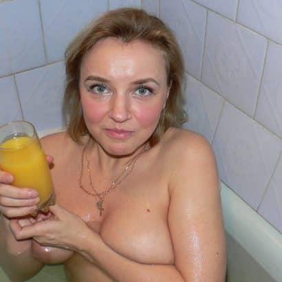 Grosse Euter in der Badewanne