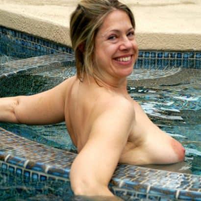 Busengalerie im Pool
