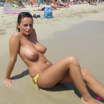 Große Dinger am Strand