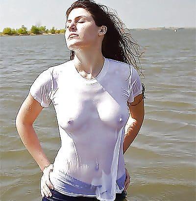 Wet T Shirt im Wasser