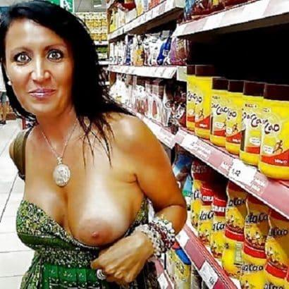Eine Titte im Supermarkt