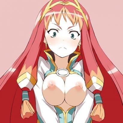 Titten zusammendrücken Hentai Titten