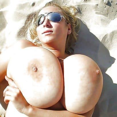 Dicke Euter am strand