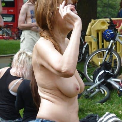 Brustbilder in der öffentlichkeit