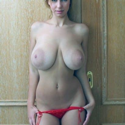 blonde sau große hängebrüste