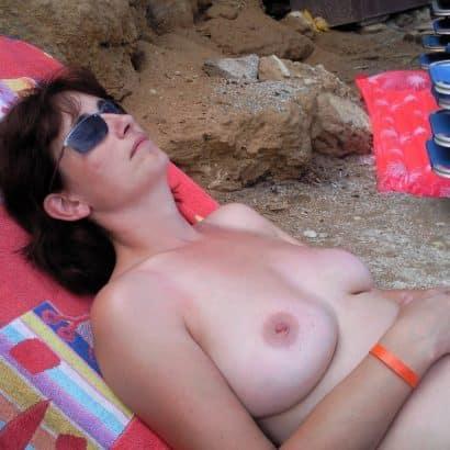 Echte Titten am Beach
