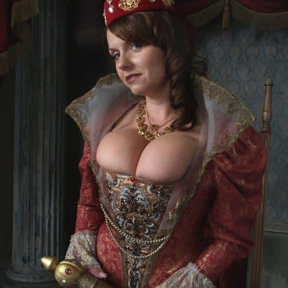 Mittelalter Kleid Nippelblitzer