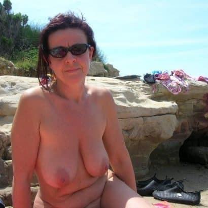 Strand Echte Titten